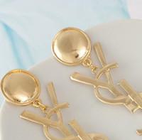 neue mode-accessoires china großhandel-Neue Heiße Verkauf Frauen Anhänger Ohrringe Schmuck Voller Diamanten Englisch Alphabet Ohrstecker Mode-accessoires