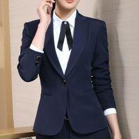 6cbe8f536c8f0 Blazer Women Autumn New 4XL Plus Size One Button Formal Slim Ladies Blazers  2017 Winter Office Suit Coat Feminino Blaser