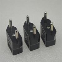 Wholesale Europe Usa Adapter - Hot Selling!US USA to EU Euro Europe Power Jack Wall Plug Converter Travel Adapter 100PCS free shipping OTH265