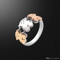 отличные украшения оптовых-TL нержавеющей стали медведь кольцо уникальный дизайн отличное качество для женщин быстрая доставка бренда ювелирных изделий 2017