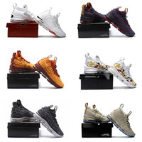 Wholesale Floral Sneakers - with box James 15 Ashes Ghost Cavs Floral equality off Men Basketball Shoes Black Gold Sports Shoes Mens Trainer Shoe James 15s Sneaker