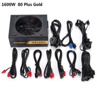 Wholesale active desktop - 6 GPU Miner 1600W ETH Ethereum Miner Power Supply For Bitcoin Miners support 6 graphics Card 6 SATA Interface Mining Power 80 PLUS GOLD 1PC