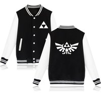Wholesale Legend Zelda Hoodie - The Legend of Zelda New Design Baseball Jacket Men Winter Warm baseball jacket bomber women hip hop hoodies and sweatshirt