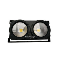 Wholesale Audience Lights - Wholesale- DuanFei DunFly 4pcs lot 2x100W 2 eyes 200W stage dmx512 LED Cob Blinder LED blinder Light Audience Blinder