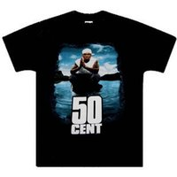 Wholesale rich black printing - 50 Cent Get Rich Or Die Tryin' t Shirt, Black,100% cotton,New. XL,2XL