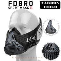 Wholesale Masks Custom - FDBRO Sports Masks Black Masks Men Women Phantom Good Quality Training Sport Fitness Mask2.0 EVA Package With Box Free Shipping