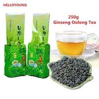 thé de ginseng chinois achat en gros de-Préférence 250g chinois Oolong biologique célèbre des soins de santé Taiwan ginseng thé vert Oolong Santé Nouveau thé de printemps Green Food