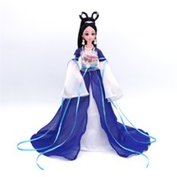 Wholesale ancient chinese accessories online - Kids Toys Barbie Doll Chinese Ancient Beauty Fairy Costume Clothes Dress For Barbie Doll Party Dress Evening Dresses Doll Accessories Box