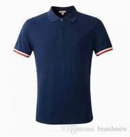 Wholesale Uk T Shirt Printing - Spring luxury UK T-shirt tee Polo High street off burb embroidery garter Snakes Little bee printing fashion clothing polo shirt