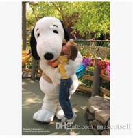traje de fantasia traje de mascote venda por atacado-EPE Adulto Tamanho Snoopy Dog Mascot Costume Halloween Chirastmas Partido Fancy Dress Frete Grátis