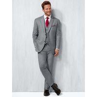 мужской светло-серый костюм оптовых-Fashion Light Gray Mens Wedding Suits Slim Fit Bridegroom Tuxedos Three Pieces Formal Business Men suit Wear (Jacket+Pants+Vest)
