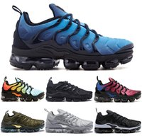 Wholesale leather shoes white sole - Vapormax TN Plus VM Air Sole New Men Women Designer Running Shoes In Metallic Outdoor Fashion Flagship Shoes Gradient Casual Sport Sneakers