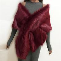 ingrosso sciarpa infinita beige-Lanshifei nuovo stile top qualità scialle eco-pelliccia sciarpa infinity sciarpa finta pelliccia di coniglio capo