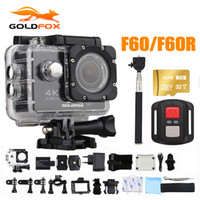 su altı lens toptan satış-Goldfox 16MP 4 K Wifi Eylem Kamera 170D Geniş Lens 30 M Sualtı Kamera Git Su Geçirmez Pro Spor DV Bisiklet Kask Kam