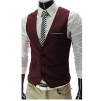 Wholesale sleeveless jacket for male casual for sale - Dress Vests For Men Slim Fit Mens Vest Male Waistcoat Gilet Homme Casual Sleeveless Formal Business Jacket