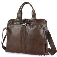 Wholesale business computer travel bag for sale - Group buy Business Briefcase Leather Men Bag Computer Laptop Handbag Man Shoulder Bag Messenger Bags Men s Travel Bags Black Brown