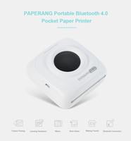 impressora digital de máquina camiseta venda por atacado-PAPERANG P1 Portátil Bluetooth 4.0 Impressora Impressora Fotográfica Térmica Telefone Conexão Sem Fio Bluetooth Impressora com 1000mAh Bateria De Lítio