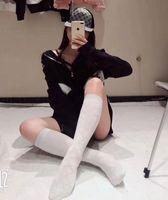 Wholesale pearl socks - C letter Gold line Knee Highs pearl socks cotton mesh Japanese sports socks