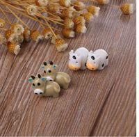 ingrosso fate in miniatura per i giardini-Fairy Garden Miniature Cow Animal Figurine Craft Micro Paesaggio Ornament Decor