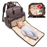 bolsa de pañales al aire libre al por mayor-Mommy Backpack Handbags Bolsos de hombro Mother Maternity Pañales de pañales Bolsas de gran capacidad Outdoor Travel Bags Multicolors Mochilas