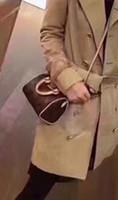 ingrosso mini sacchetto croce-SPEEDY shoulder M61252 Mini borsa a mano tracolla in pelle tracolla 16cm Female NANO secchio borsa a mano mini marrone CLUCH BAG