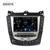 androide auto dvd honda großhandel-Android 6.0 Quad-Core-Auto-DVD-Player GPS-Navigation für Honda Accord 7 2003-2007 EURO-Auto-Stereo-Radio Dual / Einzelzonen-Klimatisierung