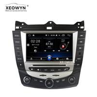 radio quads de contrôle achat en gros de-Android 6.0 Quad core lecteur dvd de voiture gps navigation pour honda accord 7 EURO 2003-2007 voiture stéréo Radio double / simple contrôle climatique
