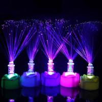 lâmpada de fibra óptica em mudança de cor venda por atacado-Fibra Óptica Nightlight Lâmpada Romântica Mudança de Cor LED presentes de boa qualidade barato