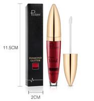ingrosso perle liquide-Pudaier 18 colori metallizzati Lip Gloss Dimond Glitter Flip Matte Liquid Lipstick Sexy nude Lipstick Waterproof Pearl Lip Makeup