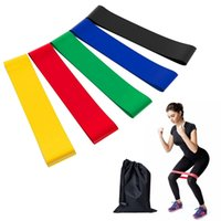 Wholesale strength band latex - 5PCS Set Pull Resistance Band fitness 5 Levels Latex Gym Strength Training Rubber Loops Bands Fitness Equipment Sports yoga belt Toys