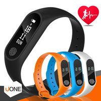 ingrosso braccialetti di salute-Inseguitore di fitness M2 Tracker di monitoraggio della frequenza cardiaca della fascia da polso Impermeabile Tracker di attività dell'inseguitore del braccialetto intelligente La chiamata ricorda al braccialetto di salute con l'OLED