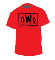siyah mini tutu toptan satış-nWo Wolfpac gömlek Kevin Nash WCW Tutum dönemi Yeni Dünya Düzeni Kırmızı Siyah Wolfpack