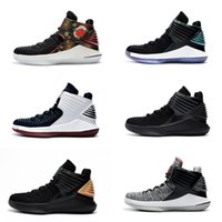 Wholesale Russell Westbrook Shoes - Air Retro 32 XXXII CNY Chinese New Year Men Basketball Shoes J32 PF MVP Black Cement Red Russ Russell Westbrook Gold Mens Sneakers