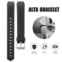 Wholesale Adjustable Buckle Straps - For Fitbit Alta Silicone Replacement Straps band Intelligent Classic Adjustable Wrist Straps With Metal Buckle For Alta Smart Bracelet
