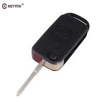 Wholesale mercedes benz remote - Flip Folding car Shell Remote Key Fob Case 2 Button For Mercedes Benz SLK E113 A C E S W168 W202 W203 Free Shipping