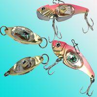 led yanıp sönen cazibesi toptan satış-LED balıkçılık lures LED Derin Bırak Sualtı Göz Şekli Balıkçılık Kalamar Balık Lure Işık Yanıp Lambası