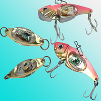 Wholesale fish shaped lure online - LED fishing lures LED Deep Drop Underwater Eye Shape Fishing Squid Fish Lure Light Flashing Lamp