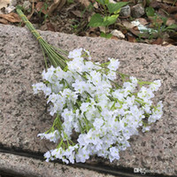 gelin düğün buketi mor toptan satış-Yaratıcı Yapay Gelin Çiçekler Buket Canlı Sahte Yıldızlı Gypsophila Simülasyon Çiçek Düğün Dekorasyon Beyaz Mor Yüksek Kalite 2mx bir