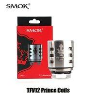 Wholesale Cloud Vape - Authentic Smok TFV12 Prince Coils Q4 X6 T10 M4 Massive Vapor Vape Replacement Coil Head For Cloud Beast Tank