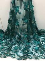 afrikalı kumaş çiçekler toptan satış-Yeni Dikiş Dantel Çiçek Afrika Dantel Kumaş DIY Kadın Moda Yüksek Kalite Tül Dantel Elbise Tasarımları kadınlar Düğün Elbiseleri FCL1826
