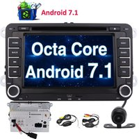 Wholesale volkswagen models - WiFi Model Android 7.1 Octa Core 7'' Car DVD CD Player 2Din Stereo GPS Navigation 2GB+32GB Mirror Link 1080P Video Player Canbus