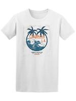 diseño de imágenes tops al por mayor-Vintage California LA Beach Surfer Design Tee - Imagen por Shutterstock Camiseta impresa Camiseta de manga corta para hombre Camiseta superior Camiseta cómica para hombre