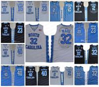 Wholesale north shorts - NCAA North Carolina Tar Heels #32 Luke Maye 2 Joel Berry II 15 Carter 23 Michael 40 Barnes UNC blue black white Jerseys