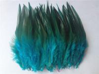 sülün tüyleri ücretsiz gönderim toptan satış-Ücretsiz kargo sıcak satış 50 adet / grup mavi sülün tüy 10-15 cm DIY takı dekorasyon