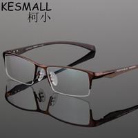 6199a1873a 2017 Half Rim Optical Glasses Frame Men Brand Design Myopia Glass Frames  Fit For Clear Lens Oculos De Grau Fashion Eyewear YJ879