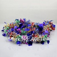 Wholesale tinsel wholesale - Free Shipping ,20pcs lot. ,Christmas tree Garland Tinsel with heart ,party  wedding birthday Christmas decoration,1.8m length