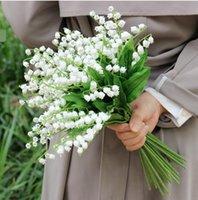 weiße pflanze für hausdekoration großhandel-Convallaria Künstliche Blumen Hochzeit Dekoration Künstliche Pflanzen Wohnkultur Flores weiße farbe 1 stücke