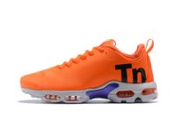 Wholesale size hot for sale - 2018 Hot Sale Mercurial Plus TN Ultra Pure Sneaker Trainers Shoes Top Quality mens womens Athletic Running Shoes size