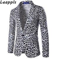 Wholesale leopard print jacket mens - Leappls casual Blazers Men fashion Leopard printing blazer masculino slim fit mens blazers and suit jackets men clothes 2018 new