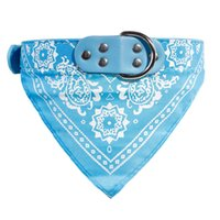 Wholesale small dog bandana collar for sale - New Adjustable Dog Cat Pet Puppy Bandana Scarf PU Pet Collar Neckerchief Pet Supplies Colors